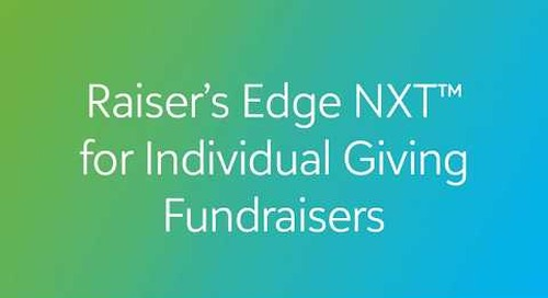 Raiser's Edge NXT for Individual Giving Fundraisers