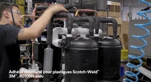 Adhésif structural pour plastiques 8010NS Scotch-Weld 3M bleu