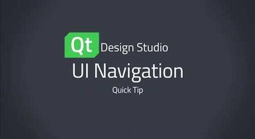 Qt Design Studio QuickTip: UI Navigation