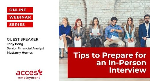 Tips to Prepare for an In-person Interview