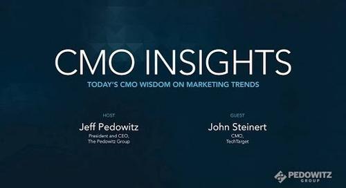 CMO Insights: John Steinert, CMO, TechTarget