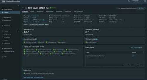 VMware Tanzu Mission Control Overview