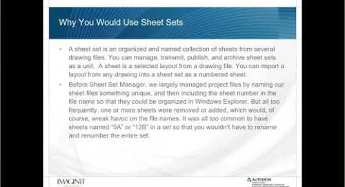 Field and Sheet Sets in AutoCAD