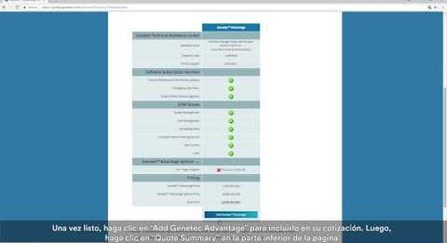 Tutorial del portal de Genetec - Cómo crear una cotización y hacer un pedido