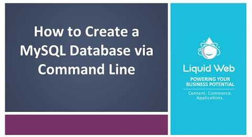 Create a MySQL Database on Linux via Command Line