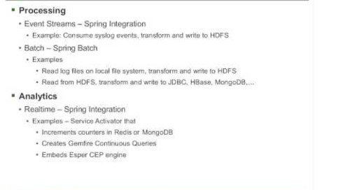 Webinar: Data Access and Processing with Spring Data, Hadoop, Batch, Integration