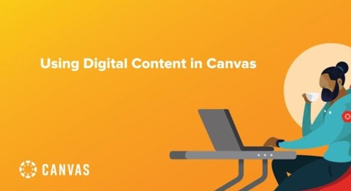 Using Digital Content in Canvas
