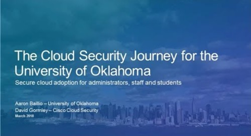 Cisco Cloud Security Customer Story: University of Oklahoma