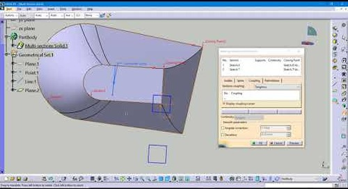 CATIA Tech Tip: CATIA V5 Coupling Options for Multi-Section Solids