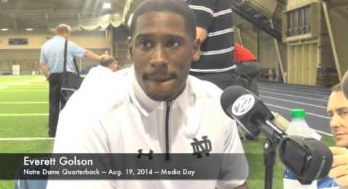 Notre Dame Media Day — QB Everett Golson