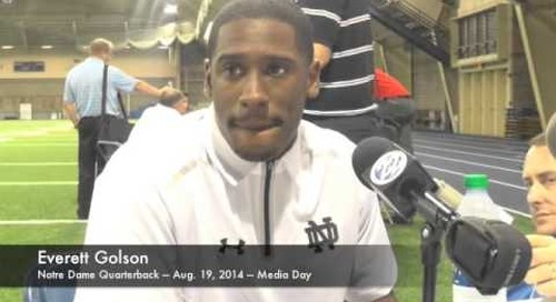 Notre Dame Media Day — QB Everett Golson