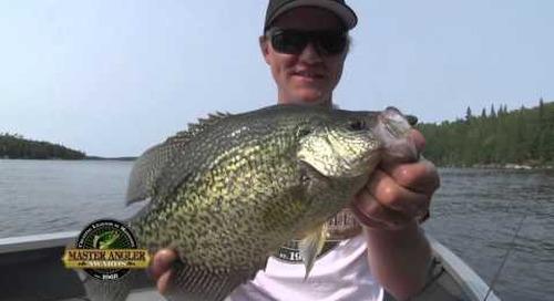 Slab Black Crappie Fishing in Manitoba - Manitoba Master Angler Minute