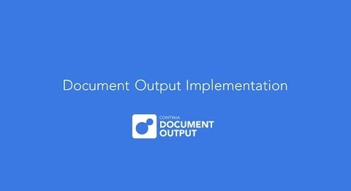 How to implement and setup Continia Document Output, based on version 1.44