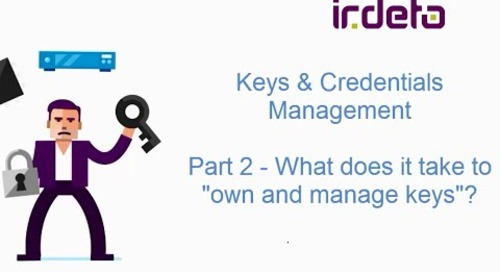 Complexity of managing keys in a multi-vendor environment