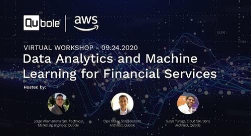 Qubole Virtual Masterclass: Data Analytics & Machine Learning for Financial Services