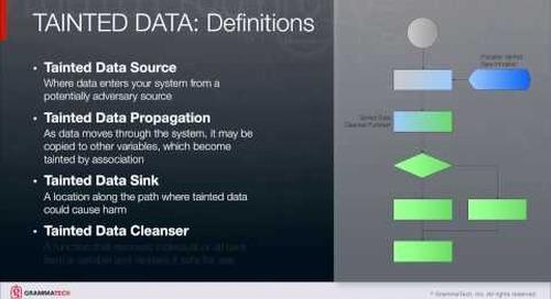 Tainted Data Analysis in CodeSonar