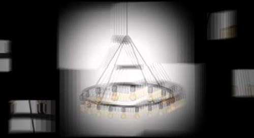 Modern Spark Chandelier Lighting by Niche