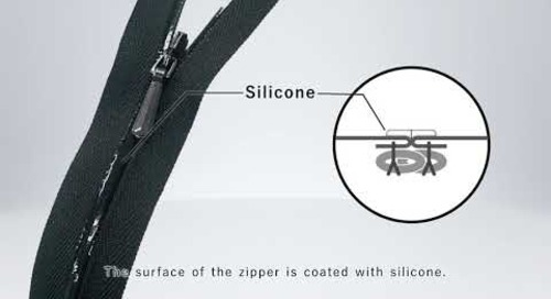 YKK® CONCEAL® Zipper No.3 Silicone Coating Type