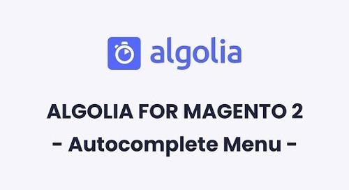 Algolia for Magento 2 | Autocomplete Menu Configuration