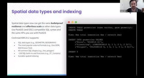 CockroachDB 20.2: Spatial Data | Kubernetes Operator | Backup & Restore