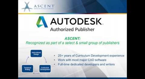 ASCENT Webcast:  What's New in Autodesk 2021 Courseware