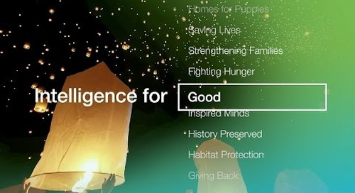 Intelligence for Good only from Blackbaud
