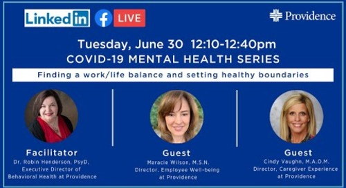 COVID-19 Mental Health: Finding a work/life balance and setting boundaries