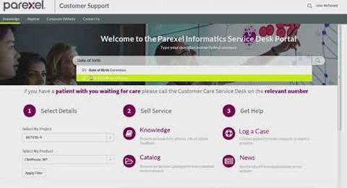 The Parexel Informatics Customer Service Portal