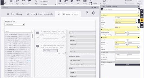 Tekla Structures 2018 New Feature - New Property Pane