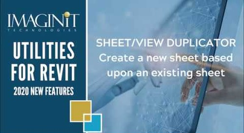 Utilities for Revit Sheet View Duplicator