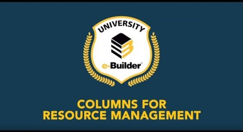 Training Videos On-Demand: Resource Management – Demo of New Columns