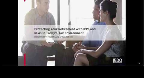 Webinar: Protecting Your Retirement in Today's Tax Environment | BDO Canada
