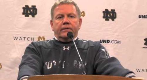 Notre Dame's Brian Kelly - 11/15/14 - Northwestern