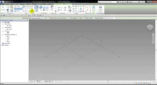 Autodesk Revit - Cricket Adaptive Family for a Chimney and Roof Part 1