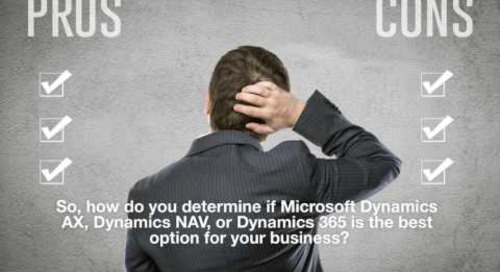 Microsoft Dynamics Product Comparison