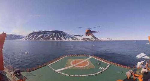 North Pole: Helicopter Ride over the Arctic Ocean (360° VR)