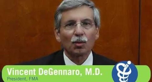 Vincent DeGennaro, M.D. thanks the members of the FMA