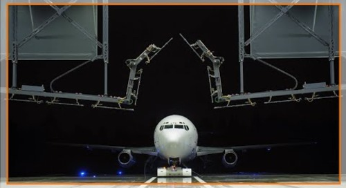 Motion plastic parts help enable aircraft de-icing machine