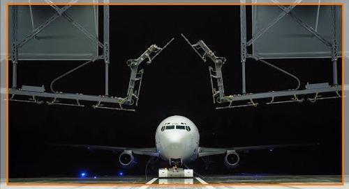 Motion plastic parts help enable aircraft de-icing machine