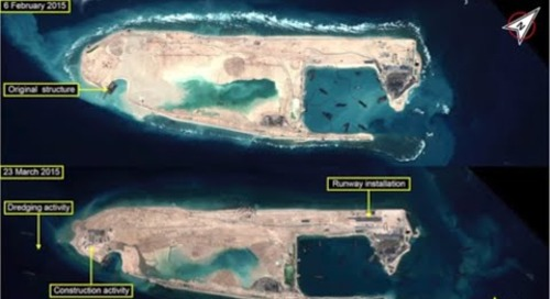 Island building in the South China Sea