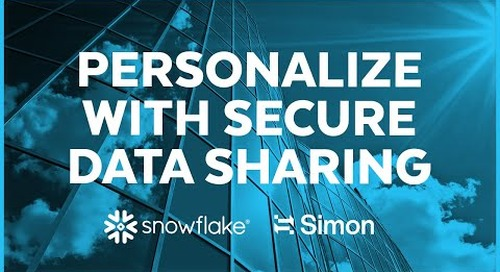 Simon Data - Personalized experiences with Snowflake's Secure Data Sharing