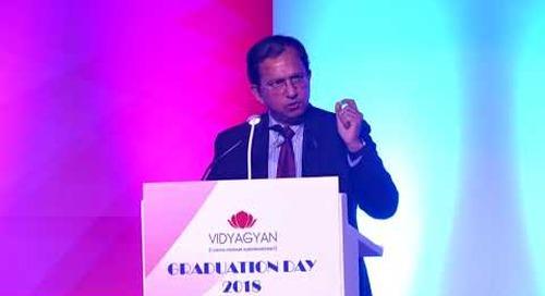 Mr. Suresh Narayanan, Chairman and Managing Director of Nestle India   VidyaGyan Graduation Day 2018