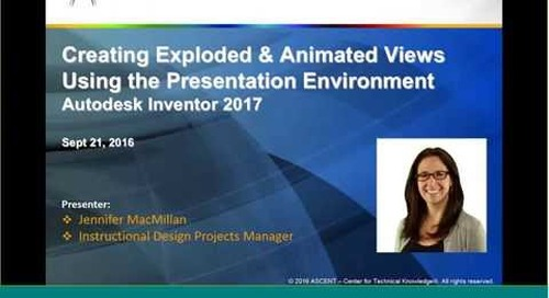 Creating Exploded and Animated Views in Inventor 2017, Presentation Environment