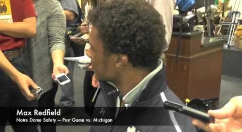 Max Redfield - Post Game - Notre Dame vs. Michigan