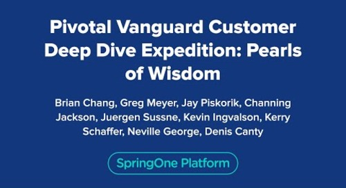 Pivotal Vanguard Customer Deep Dive Expedition: Pearls of Wisdom
