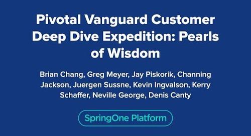 Pivotal Vanguard Customer Deep Dive Expedition: Pearls of Wisdom