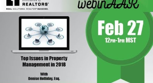 Top Issues in Property Management in 2018