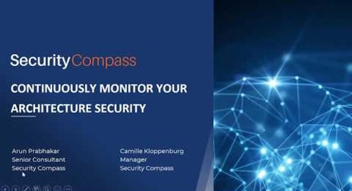 Continuously Monitor Your Architecture Security