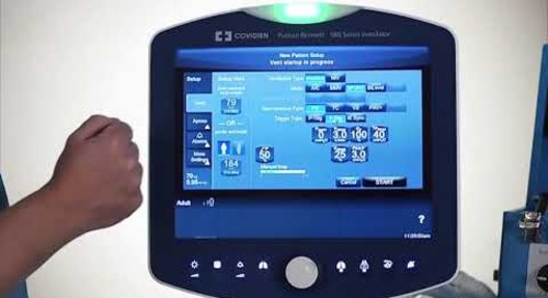 Puritan Bennett 980 Ventilator - Patient Setup