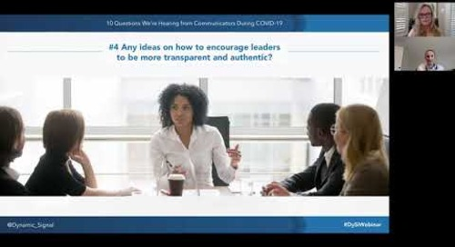 10 Covid-19 Questions - How to Encourage Leaders to be More Transparent